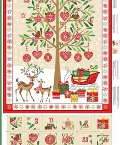 Makower UK Traditional Christmas Patchwork Fabric, lovestitching.co.uk, UK, NI, Northern Ireland, ROI