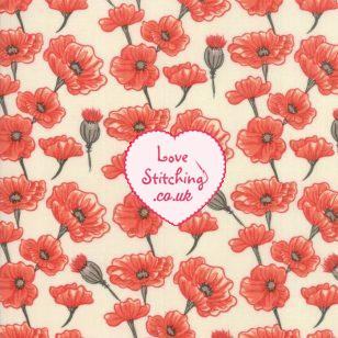 Moda UK Le Pavot Patchwork Fabric by Sandy Gervais available from lovestitching.co.uk, UK, Northern Ireland, ROI